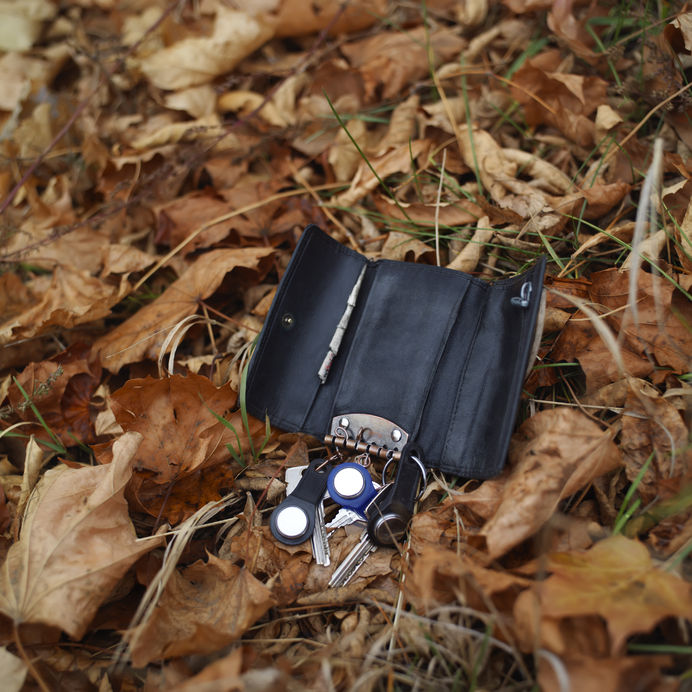 sleutels verloren tijdens een boswandeling